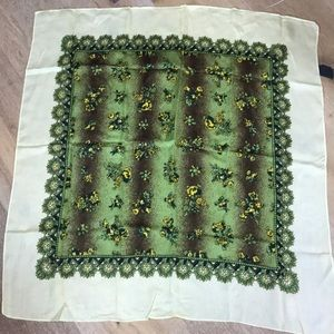 Accessories - Yellow and green vintage scarf